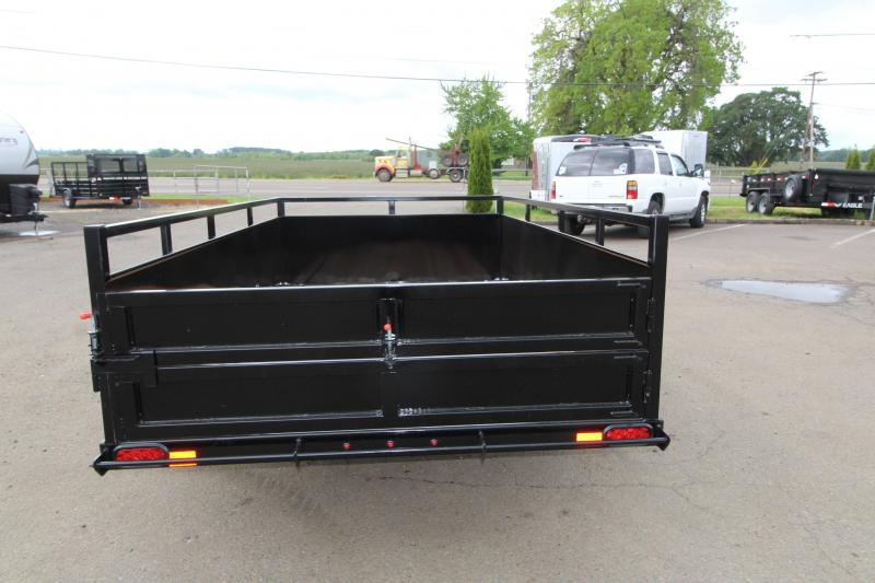 "NEW 2019 Eagle 6x10 Single Axle Lightspeed Utility Trailer -  24"" Ribbed metal sides - Split ""Lightspeed"" ramps - 2x6 Fir decking - Multi-leaf suspension - Sealed beam LED lights"