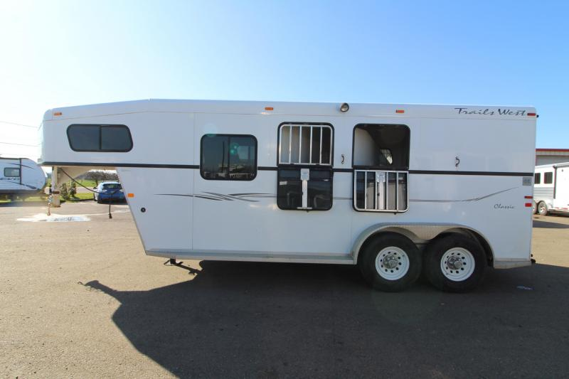 2005 Trails West Classic 2 Horse Trailer - Comfort Package