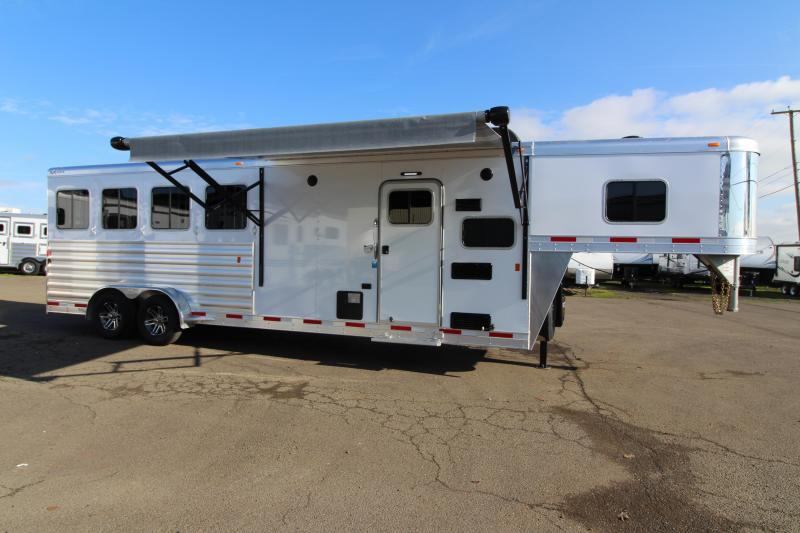 NEW 2019 Exiss 7408 8' SW Living Quarters - All Aluminum -  Electric Awning - Easy Care Flooring - Stud Divider - Sofa PRICE REDUCED BY $4700!