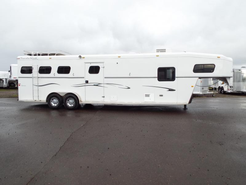 2005 Trails West Sierra 7 x12 LQ w/ Angled Mid Tack 3 Horse Trailer - Manger on First Stall - Aluminum Hay Rack -  PRICE REDUCED