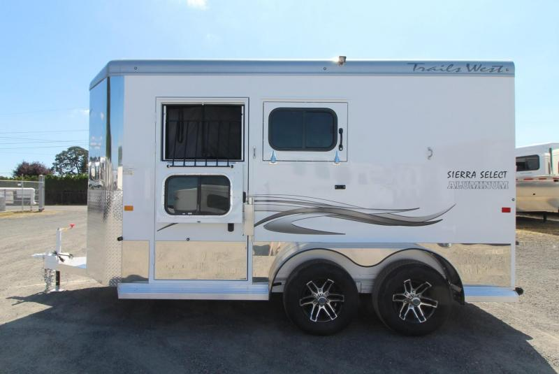 """2020 Trails West Sierra Select 7'6"""" Tall 2 Horse Trailer - Seamless Aluminum vacuum bonded walls and roof"""