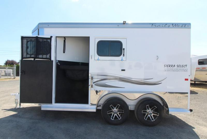 "2020 Trails West Sierra Select 7'6"" Tall 2 Horse Trailer - Seamless Aluminum Vacuum Bonded Walls and Roof"