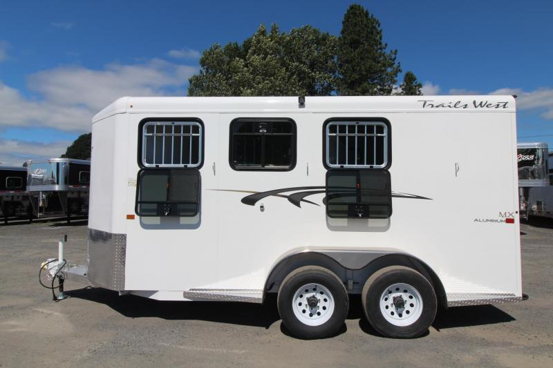 2020 Trails West Adventure MX II 3 Horse Trailer - Steel Frame Aluminum Skin - Convenience Package - LED Load Lights - Double Rear Doors