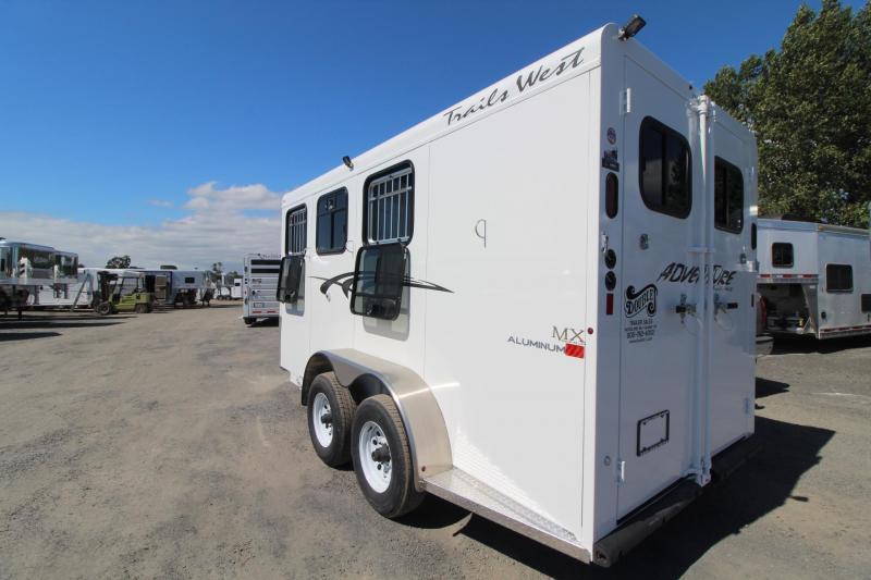 2020 Trails West Adventure MX II 3 Horse Trailer - Steel Frame Aluminum Skin - Convenience Package - LED Load Lights - Double Rear Doors