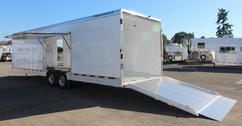 2019 Featherlite 4926 30ft All Aluminum Enclosed Car Trailer w/ Vending Door - Lined and Insulated Price Reduced $4300