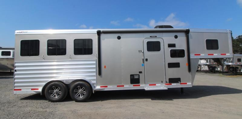2020 Exiss Trailers Escape 7308 Horse Trailer Easy Care Flooring - Sofa  - Electric Awning - Rear tack PRICE REDUCED $2200