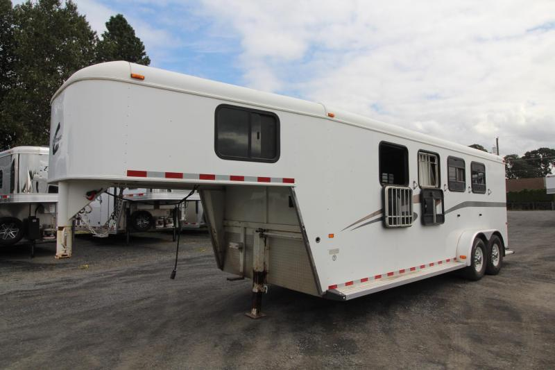 2004 Charmac 4 Horse Trailer - Large Tack Room - Drop Down Feed Windows - Drop Down Face Bars - Swing-out Saddle Rack - Bridle Hooks PRICE REDUCED