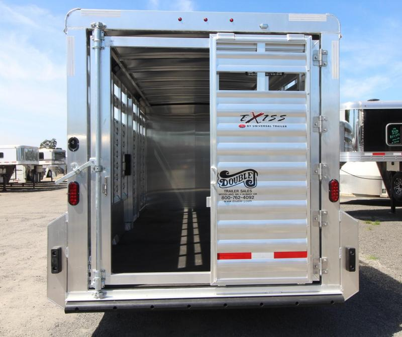 2020 Exiss STC 7020 - 20ft Stock Combo Trailer w/ Tack Room - All Aluminum - Escape Door