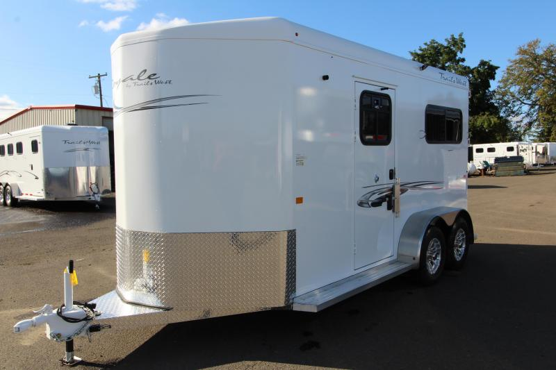 2020 Trails West Royale Plus 2 Horse Trailer - Convenience Package - Wheel Upgrade - Rubber Floor Mats in Tack Room