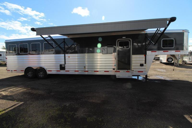 2017 Exiss Endeavor 8414 Glide B - Onan p4500i Generator with Remote Start - All Aluminum - Escape Door - Stud Panel - Mangers - Easy Care Flooring - 4 Horse Trailer PRICE REDUCED $10000!