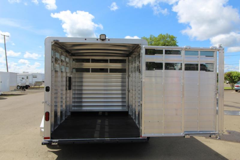 Lightly Used 2019 Elite Wrangler 1165 Livestock Trailer-11' Long-Slider in Rear Gate-Floor Mats-Load Light