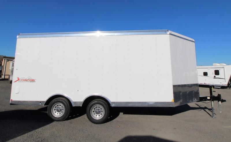 "2020 Mirage Extreme Sport Basic 8.5x20 - Beavertail - Crystal white exterior - Rear ramp door - 6"" Extra height"