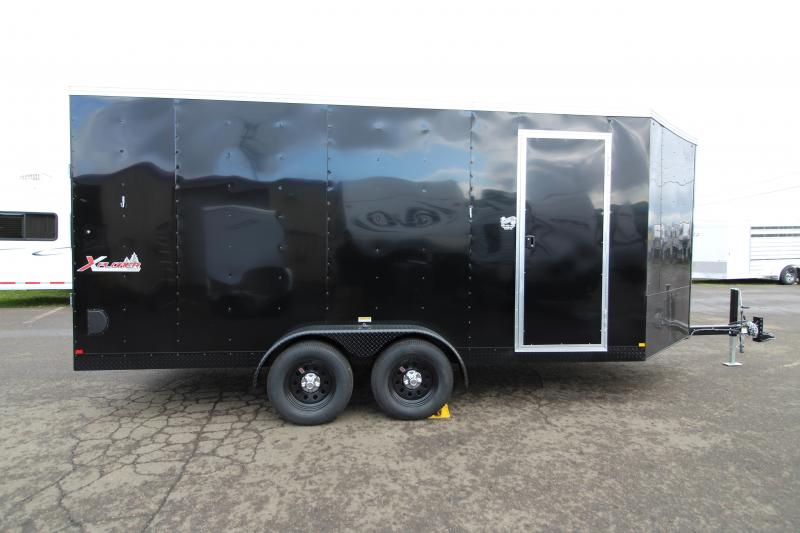 2020 Mirage Trailers Xplorer 7' x 20' Enclosed Trailer -  Summit Package - Raven Black Stoneguard - Front & Rear Ramp