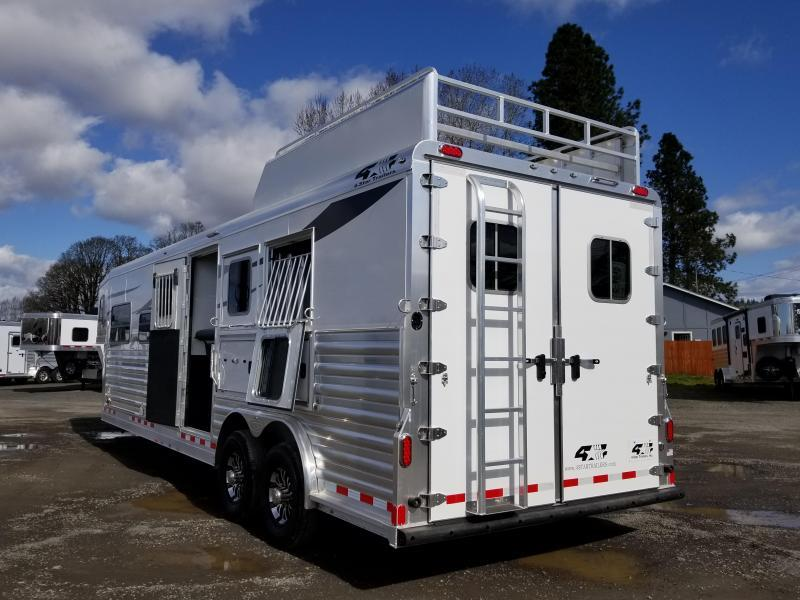 "2021 4-Star Trailers 3 Horse Trailer- 13' Living Quarters- 8' Wide - 7'6"" Tall - Generator - Hayrack - Drop Windows Both Sides PRICE REDUCED $2600"