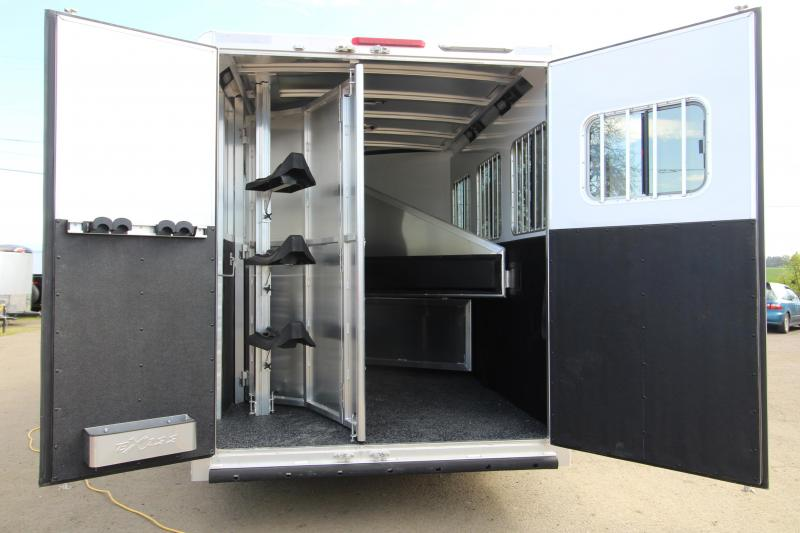 NEW 2019 Exiss Escape 7308 3 Horse 8' SW L.Q. Trailer - All Aluminum - Power Awning - Sofa - Easy Care Flooring - PRICE REDUCED