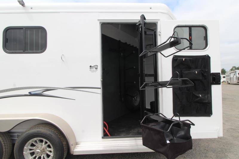 """2020 Trails West Classic Warmblood 7'6"""" Tall 2 Horse Trailer - Convenience package - Swinging saddle rack"""