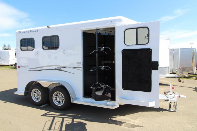 NEW 2019 Trails West 2 Horse Classic Trailer - Triple Wall Construction - Swing Out Saddle Rack - One Piece Aluminum Roof