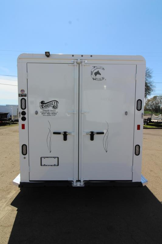NEW 2019 Trails West 2 Horse Classic Trailer - Triple Wall Construction - Swing Out Saddle Rack - One Piece Aluminum Roof PRICE REDUCED $400