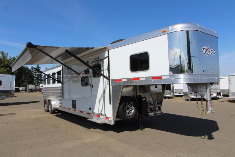 NEW 2018 Exiss 7410 10' SW LQ - 4 Horse All Aluminum -  Electric Awning - Easy Care Floor - Upgraded Airflow Dividers - PRICE REDUCED BY $2450