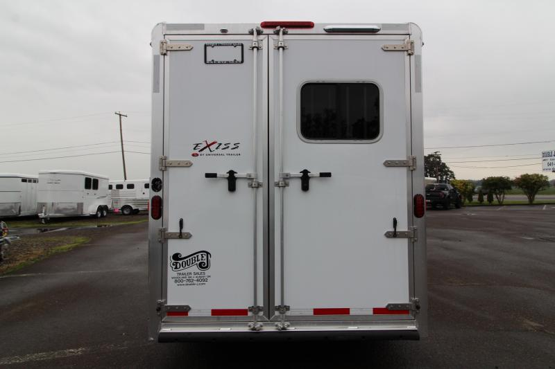 NEW 2018 Exiss 7410 10' SW L.Q. - 4 Horse All Aluminum -  Electric Awning - Easy Care Floor - Upgraded Airflow Dividers - PRICE REDUCED BY $4450