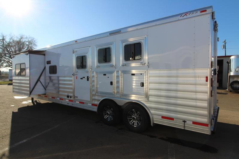 NEW 2019 Exiss 8314 - 3 Horse 14' Short Wall Living Quarters w/ Slide-out - All Aluminum - Power Awning - Mangers - Easy Care Flooring - Lined and Insulated Horse Area Ceiling  PRICE REDUCED $2000