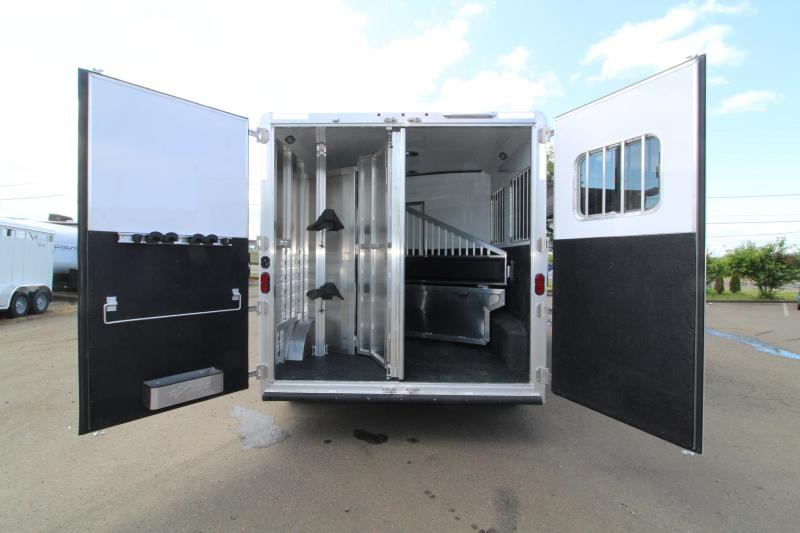 NEW 2019 Exiss 8210 10' Living Quarters 2 Horse Trailer - 8' Wide - All Aluminum - Electric Awning- Horse Area Lined and Insulated - Easy Care Flooring PRICE REDUCED $3850
