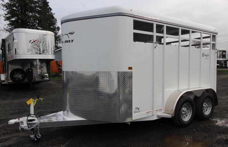 2020 Thuro-Bilt Wrangler 13ft Stock Trailer with Escape Door