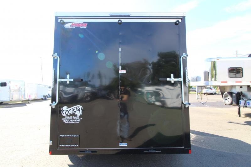2020 Mirage Xpres 7' x 14' Side by Side Trailer - Rear Ramp Door - V Nose - Flat Roof - Spare Tire Mount and Tire - Driver Side RV Man Door