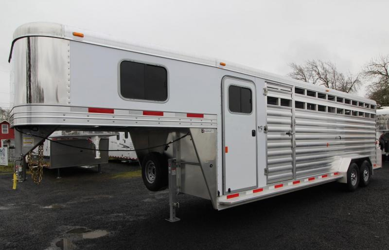 2019 Exiss STC 7024 - 24' Livestock Combo Trailer w/ Tack Room PRICE REDUCED $500 - All Aluminum Construction -  One Piece Roof - Fully Sealed Tack Room
