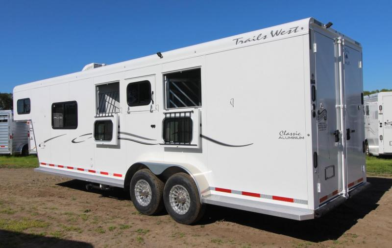 2019 Trails West Classic 8' x 13' Living Quarters PRICE REDUCED - 3 Horse Trailer - Hoof Grip Flooring - Convenience Package - Soft Touch Ceiling