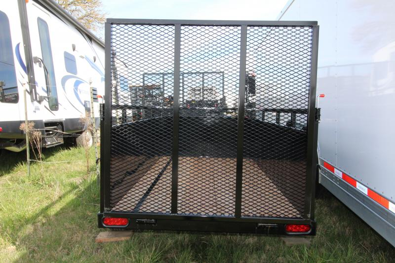 "NEW 2019 Eagle Falcon 4' x 8' Single Axle Utility Trailer - 2"" x 6"" Fir Decking -  Front Fender Step -  24"" Solid Metal Sides - 4' Ramp 1500# - J-Hooks- Sealed Beam LED Lights"