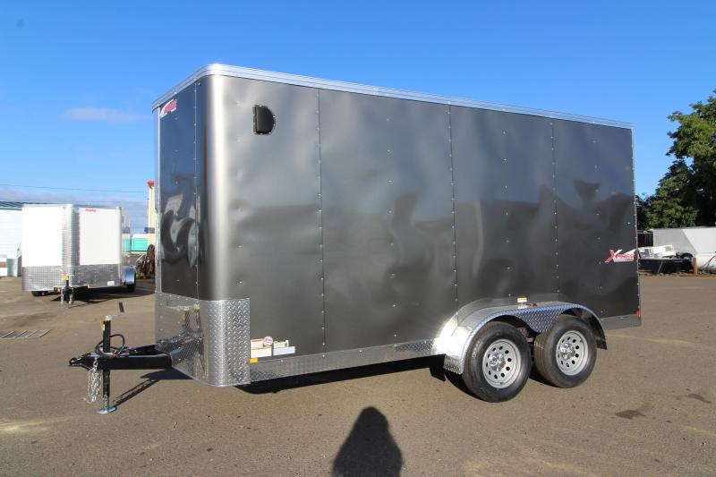 2020 Mirage Xpres 7' x 14' Enclosed Cargo Trailer - Xtra Package - Rear Ramp Door Upgrade-  V Nose - Flat Top - Bar Lock Man Door