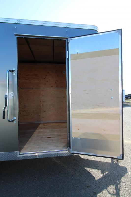 2020 Mirage Xpres 7' x 14' Enclosed Cargo Trailer - Xtra Package - Rear Ramp Door Upgrade-  V Nose - Flat Top - Bar Lock Man Door
