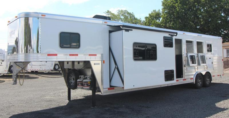 2019 Exiss 8412 w/ Slide - Generator - 4 Horse Living Quarters Trailer - Easy Care Flooring - All Aluminum - Insulated Ceiling & Upgraded Interior - PRICE REDUCED $7800
