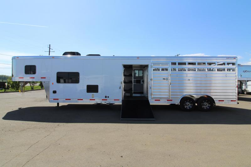 NEW 2019 EXISS STC 8032 Stock Combo - All Aluminum Construction - 10' Short Wall - Living Quarters Trailer - Bunk Bed - Mid Tack w/ Ramp - UPGRADED Easy Care Flooring - PRICE REDUCED $3500!