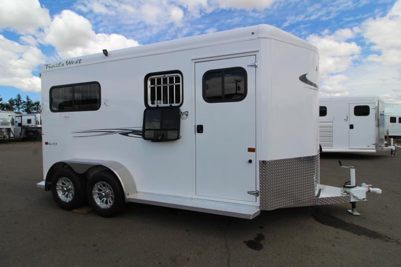 2020 Trails West Royale Side x Side 2 Horse Straight Load Trailer- Convenience Package - Wheel Upgrade