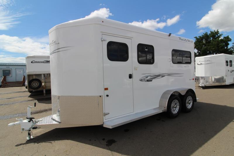 2020 Trails West Royale SxS 2 Horse Straight Load Trailer- Convenience Package - Wheel Upgrade