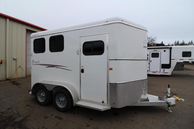 2018 Thuro-Bilt Renegade 2 Horse Slant Horse Trailer - Double Wall Construction - Swing Out Saddle Rack - Telescoping Dividers