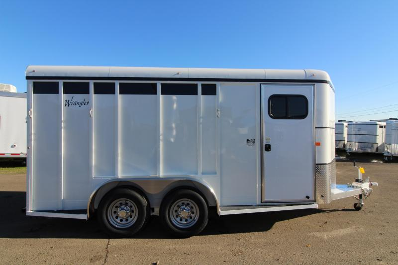 NEW 2019 Thuro-Bilt Wrangler Plus 3 Horse Trailer - 7' Tall - Enclosed Tack Room - Swing Out Saddle Rack - Removable Plexi Glass Inserts