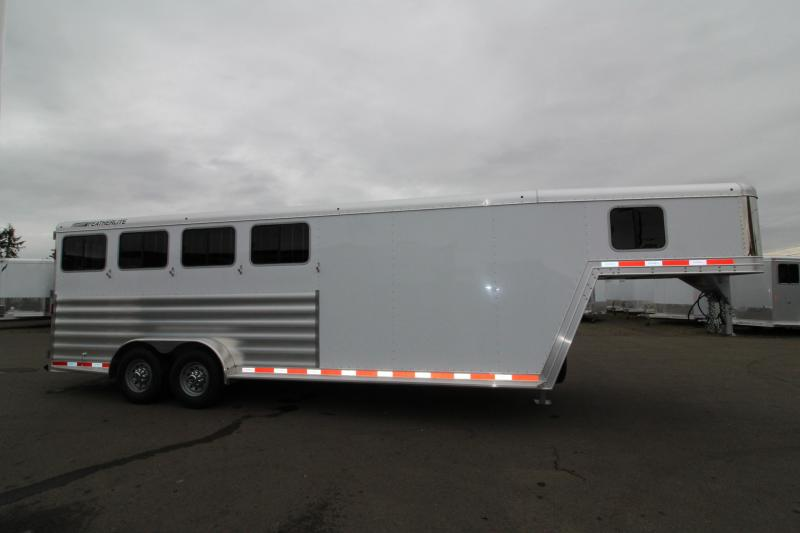 NEW 2019 Featherlite 8542 Legend Series - All Aluminum - 4 Horse - 7' Tall and Wide - Folding Rear Tack - PRICE REDUCED