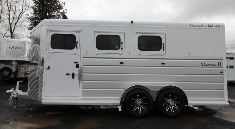 """2020 Trails West Sierra II Warmblood 7'6"""" tall 3 Horse Trailer w/ Escape door"""