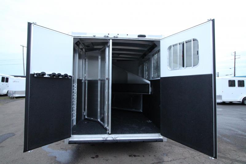 2020 Exiss 7300 - 3 Horse Trailer - All Aluminum Construction - Easy Care Flooring - Back Tack