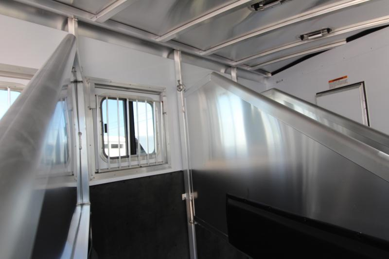 NEW 2019 Exiss 7410 - 10' Short Wall L.Q. with Slide-out 4 Horse All Aluminum Trailer - Easy Care Flooring Upgrade - Upgraded Interior - Dinette - Metallic Gray Exterior Skin PRICE REDUCED $2000