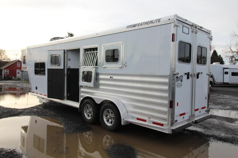 2020 Featherlite 7841 - Liberty 10ft sw Living Quarters 3 Horse Trailer - Easy Care Flooring -