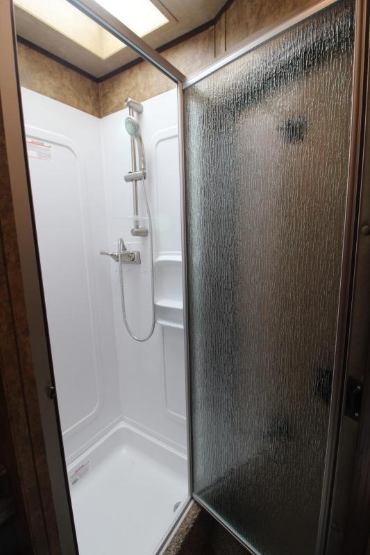 2019 Exiss 7208 - 8' Short Wall Living Quarters 2 Horse All Aluminum Trailer - Easy Care Flooring - Stud Divider PRICE REDUCED $1000