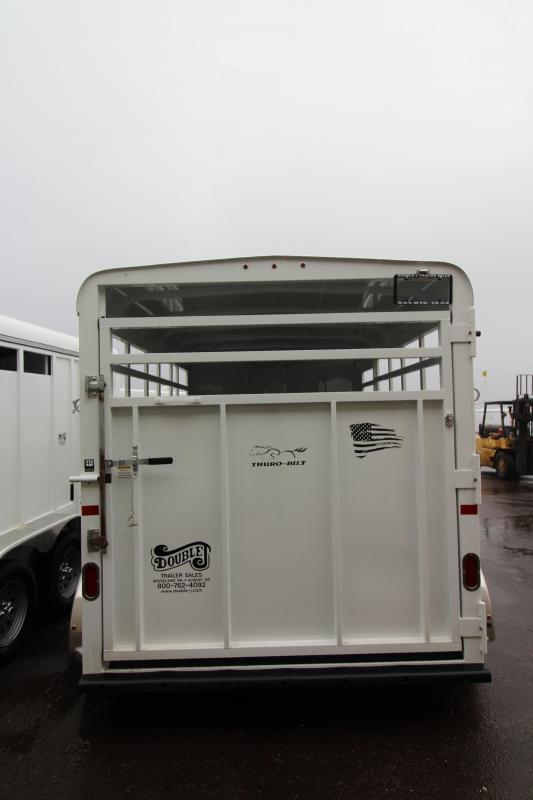 2020 Thuro-Bilt Wrangler Livestock Trailer - Single Wall Construction - Curbside Escape Door