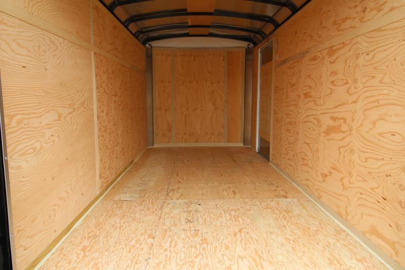 """NEW 2019 Mirage Xcel - 6' x 12' Enclosed Cargo Trailer - Double Rear Cam Lock Style Doors - White Exterior Skin - Bar Lock Curb-side Man Door -  24"""" Starbright Stoneguard - Radius Front - Domed Roof- LED Dome Lights PRICE REDUCED BY $200"""