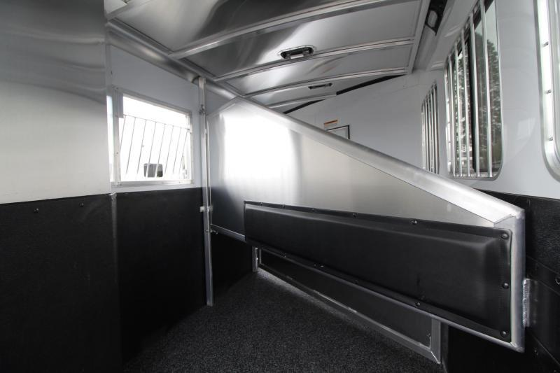 2019 Exiss Escape 7308 - 8' S.W.  Living Quarters 3 Horse - Easy Care Flooring - Upgraded Interior - Price Reduced $3600