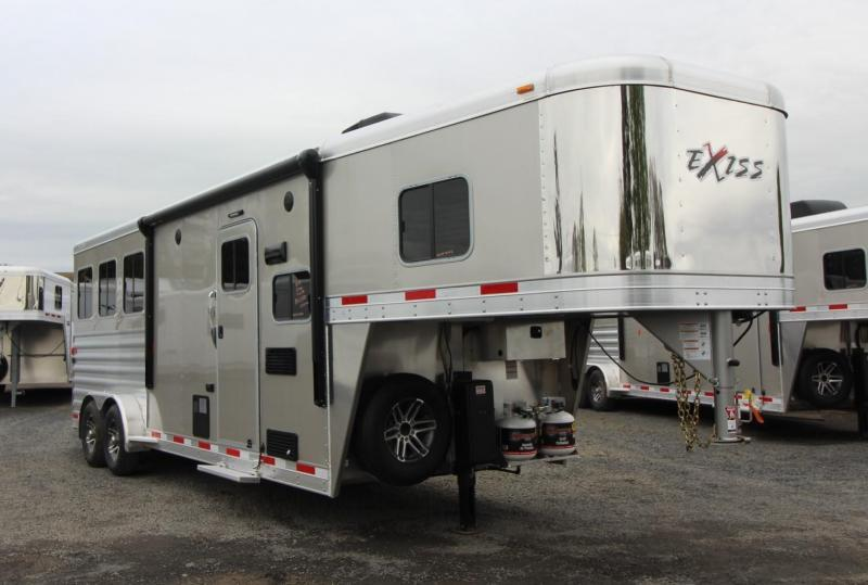 2019 Exiss Escape 7308 - 8' S.W.  Living Quarters 3 Horse - Easy Care Flooring - Upgraded Interior - Price Reduced $3600