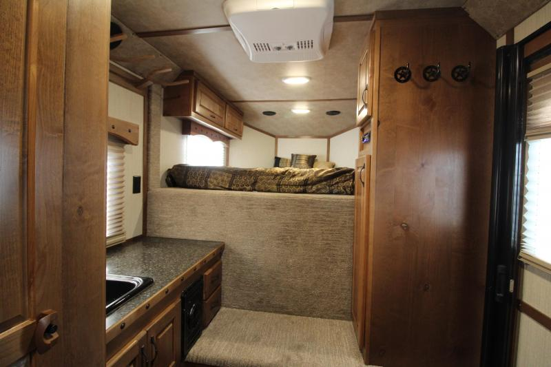 2020 Trails West Classic 2 Horse 7' x 7' Weekender Horse Trailer - Hoof Grip Easy Care Flooring - Side Tack- Swing Out Saddle Rack - Furnace and A/C!